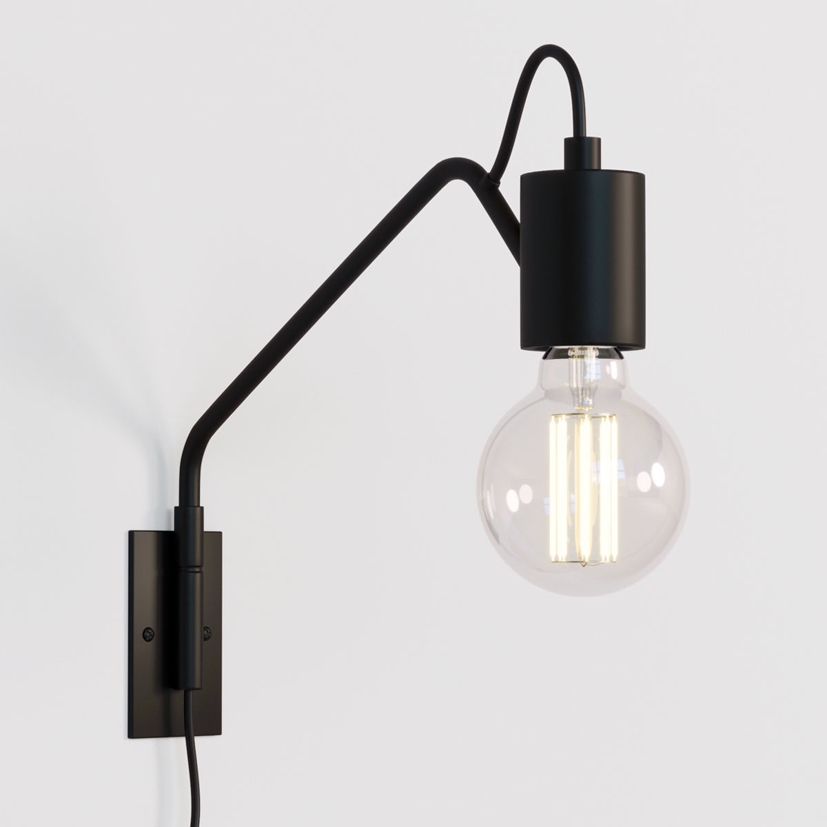 Swing Wall Lamp Swing Arm Wall Lamp Black 3d Model