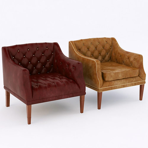 Leather Sofas In Eastbourne 3d Model Hg Eastbourne Armchairs | Cgtrader
