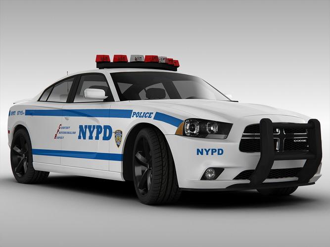 Police Car Lights Wallpaper Dodge Charger Nypd Police Car 2013 3d Model Max Obj 3ds
