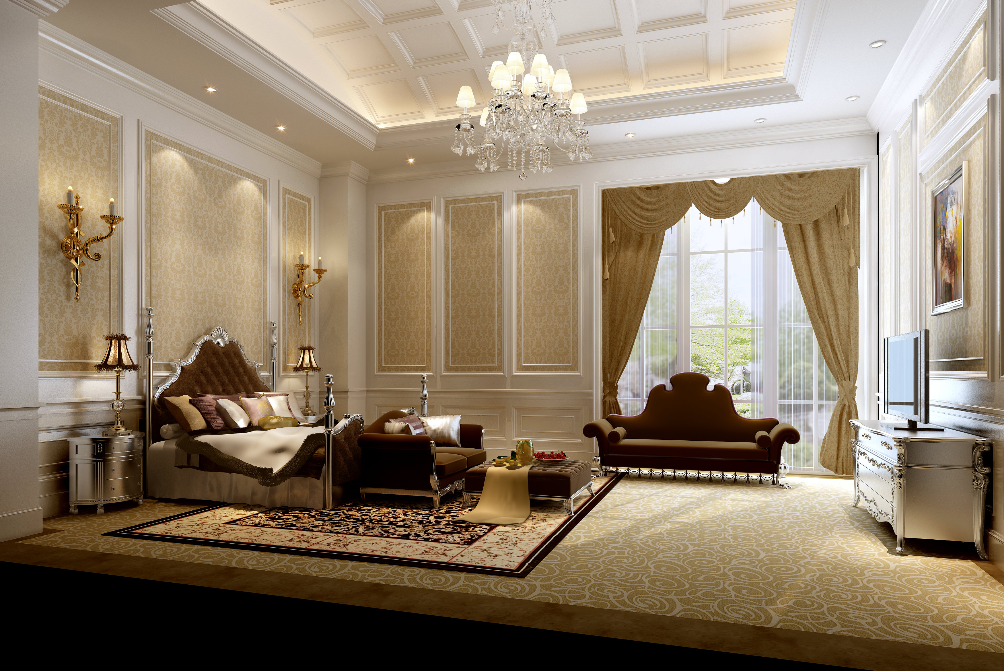 Very luxury bedroom 3D Model .max
