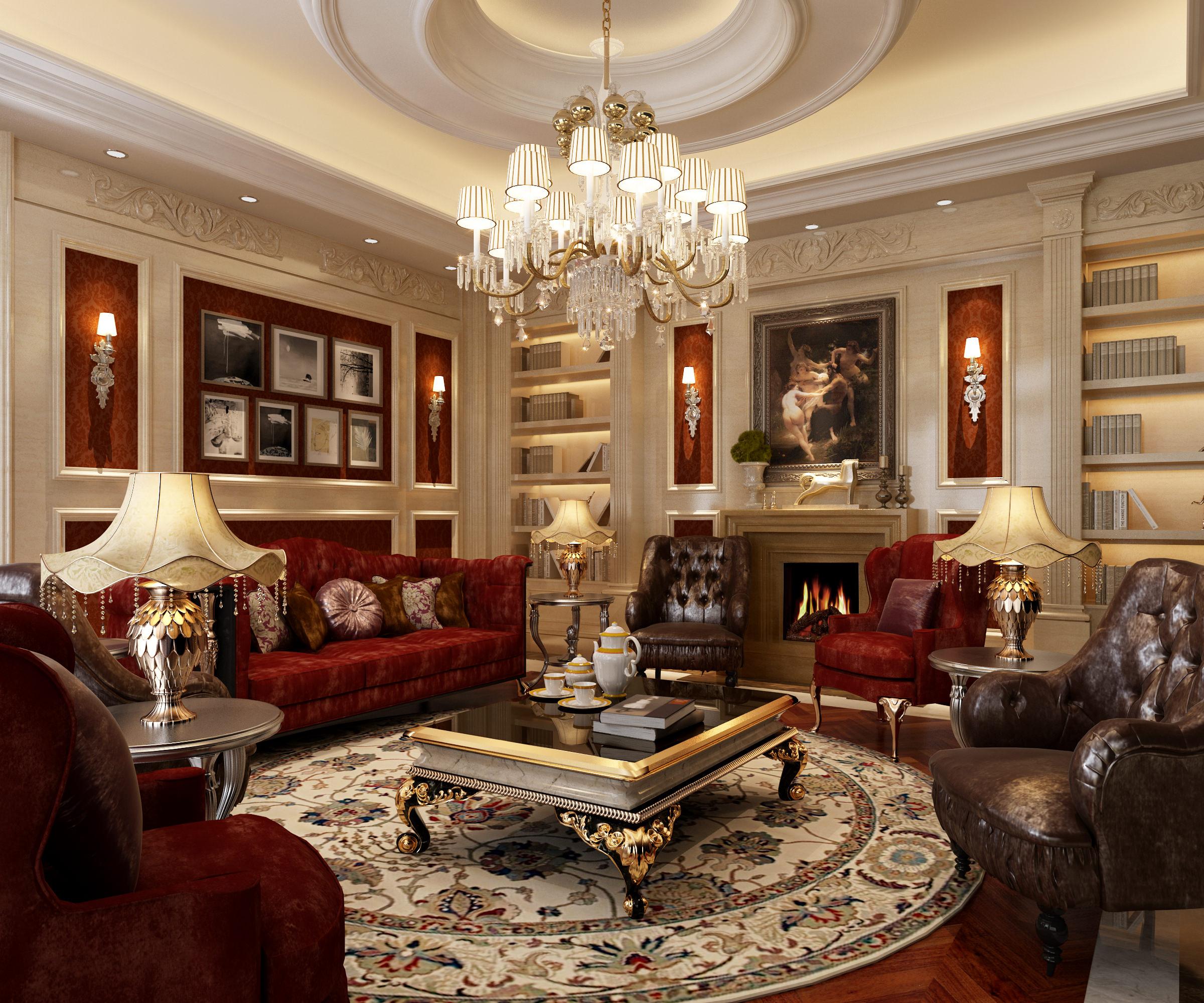 Luxury living room 3D Model MAX
