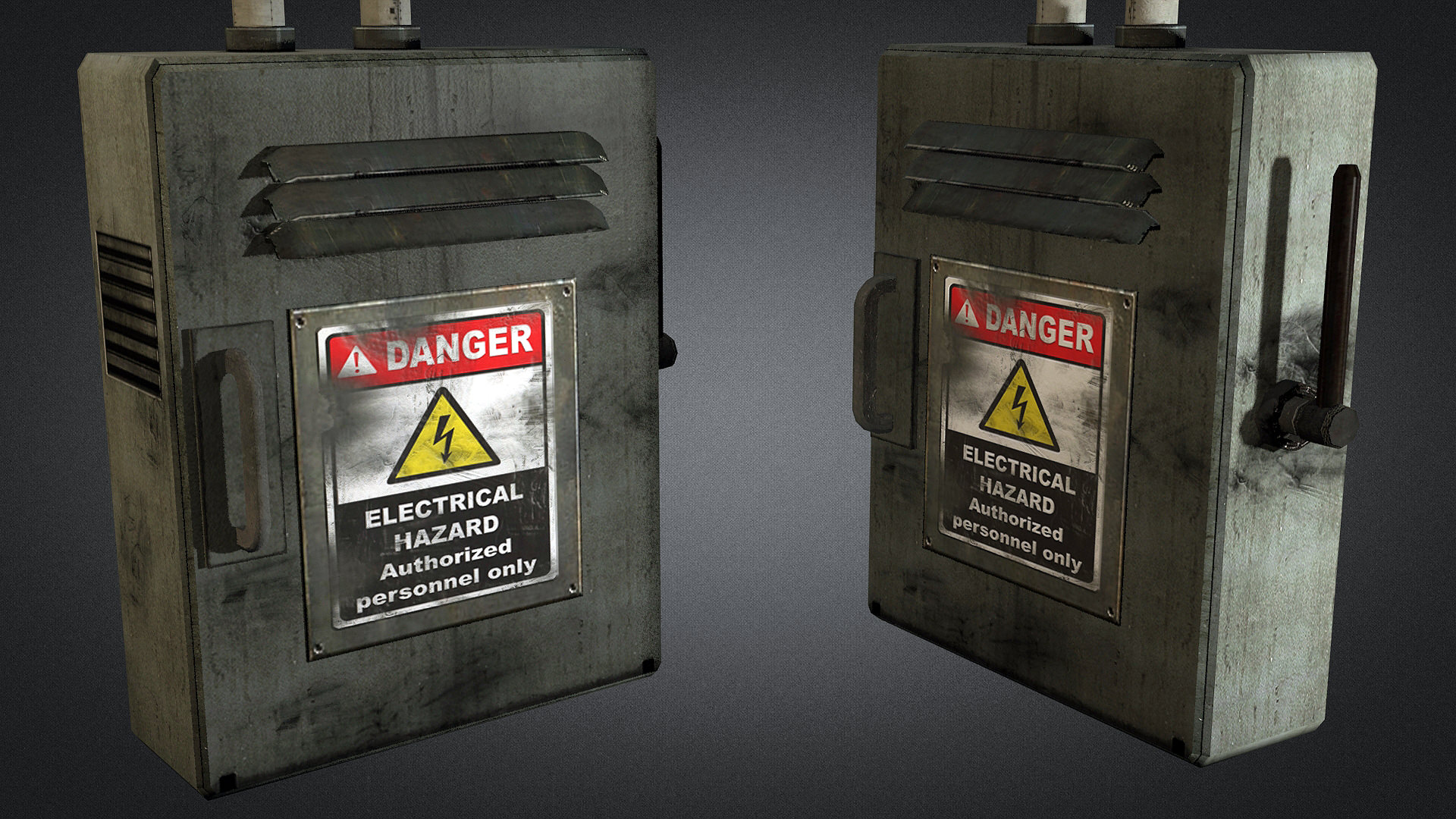 electric fuse box 01 3d model game ready max obj 3ds