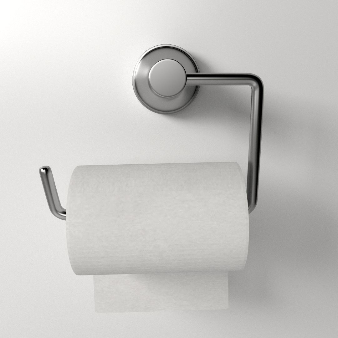 Tp Dispenser Toilet Paper Holder 3d Model 3ds Fbx Blend Dae
