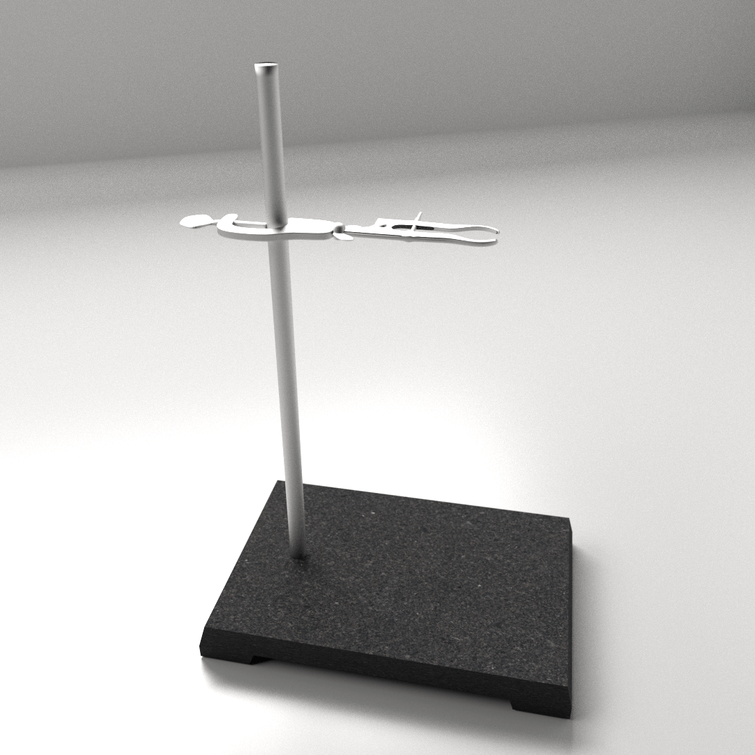 Laboratory Tripod Lab Support Stand 3d Model Fbx Blend Dae Cgtrader