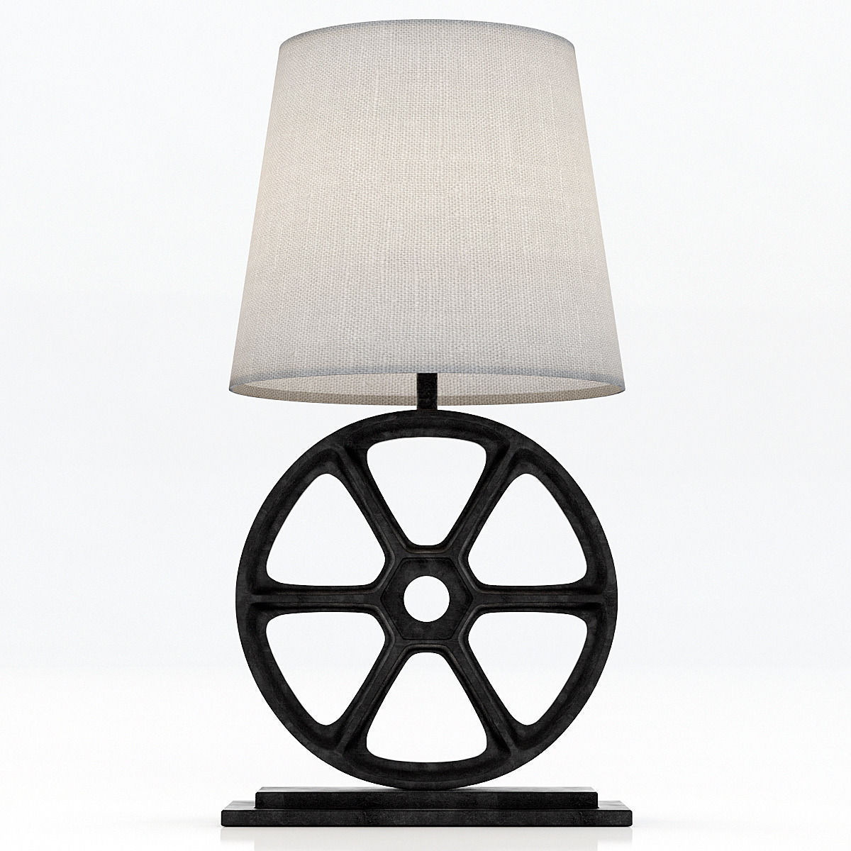 Table Lamp Base Restoration Hardware Gearworks Table Lamp Base 3d Model