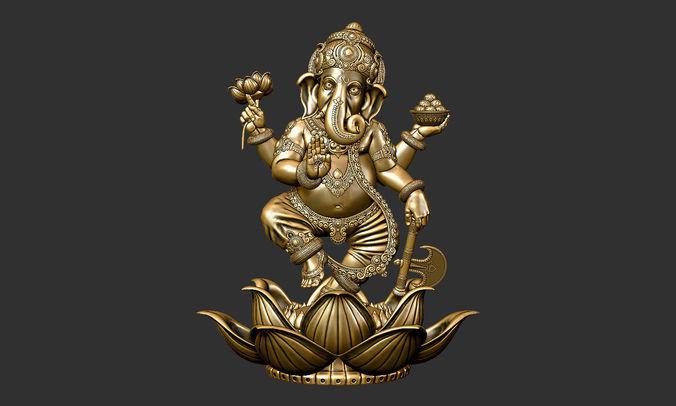 Hindu God Krishna Wallpaper 3d Ganesha Male 3d Printable Model Cgtrader