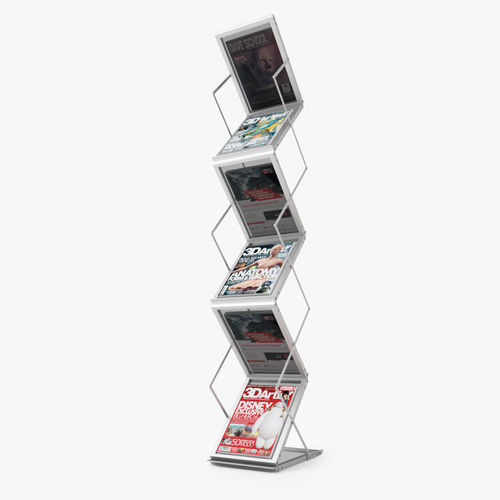 Folding Brochure Stand 3D CGTrader