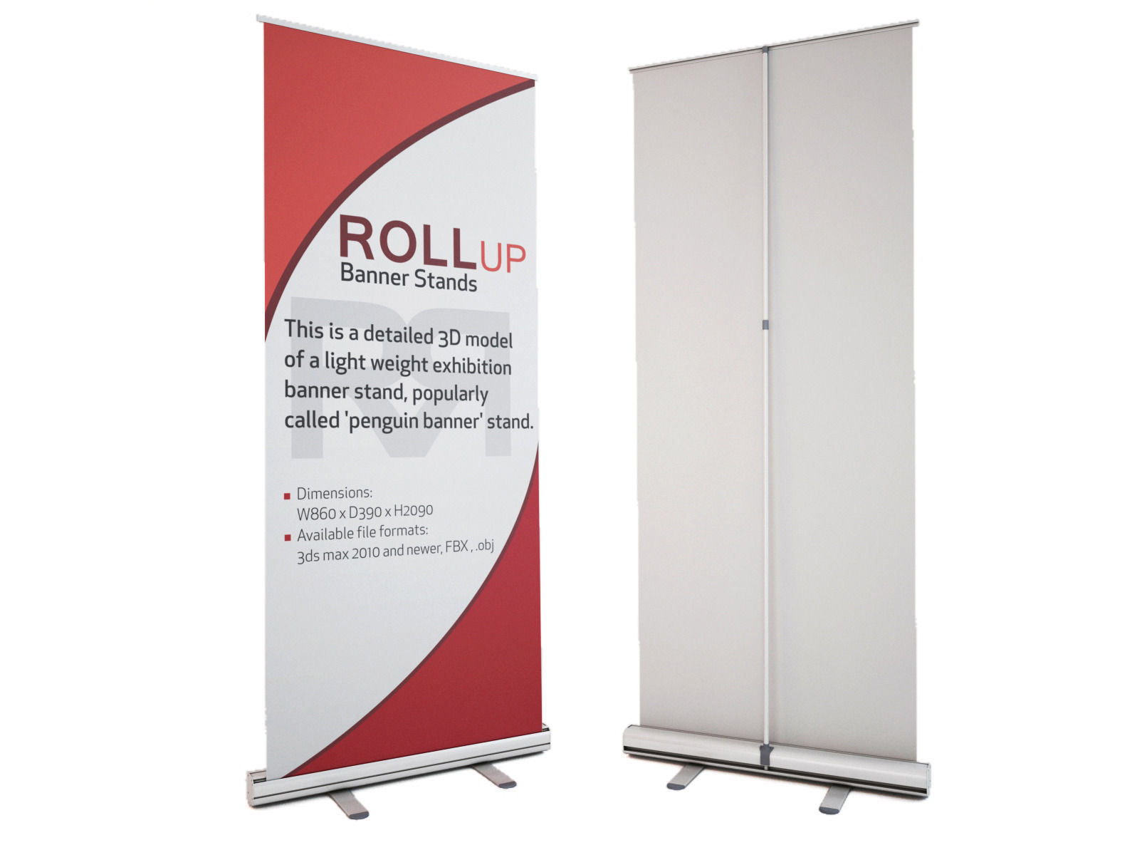 Rollup Banner Stand Roll Up 3d Model