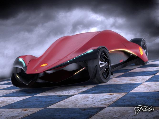 Cfree Cameros Racing Car Wallpapers Ferrari Ineo Concept 3d Model Rigged Max Obj 3ds Fbx C4d Stl