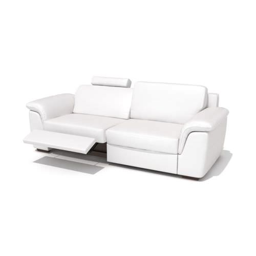 Modern reclining leather sofa 3d model cgtrader com