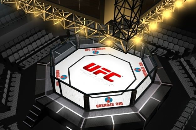 3d Octagon Wallpaper Ufc Style Octagon Fighting Arena 3d Cgtrader