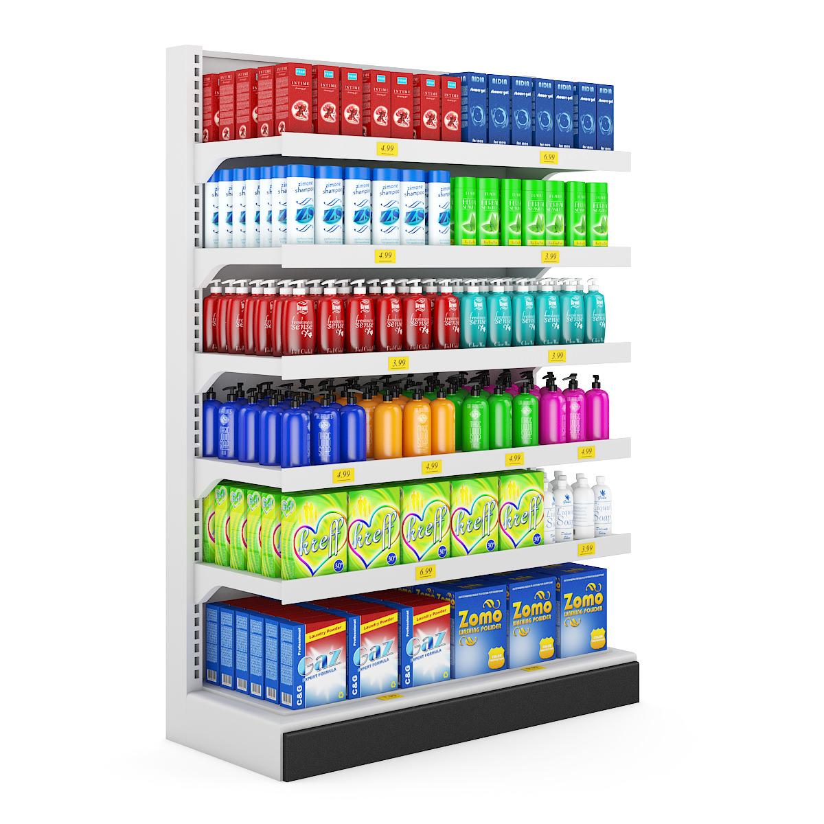 3d Shelves Wallpaper Supermarket Shelf 10 3d Model C4d Cgtrader Com