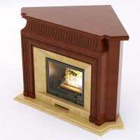 corner wood fireplace 3D Models - CGTrader.com