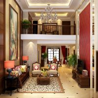Fancy Living Room With Big Painting 3D Model .max ...