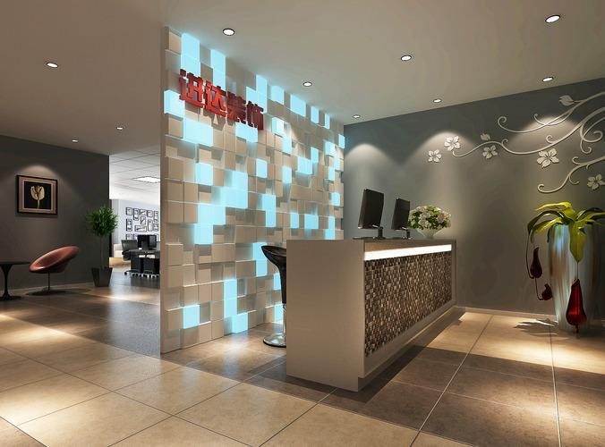 3d model modern reception room cgtrader