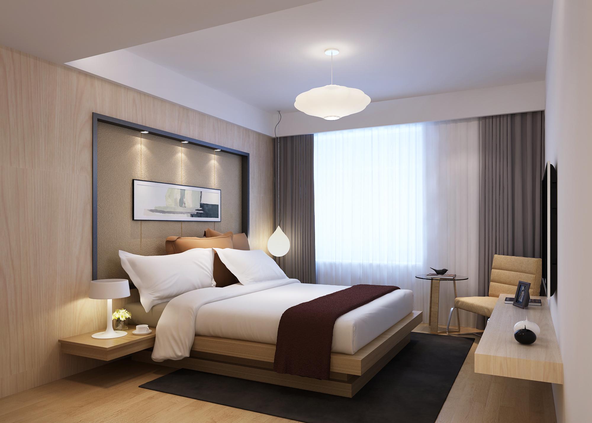 3d Wallpaper For Master Bedroom Modern Bedroom 3d Model Max Cgtrader Com