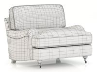 Restoration Hardware English Roll Arm Upholstered Chair 3D ...