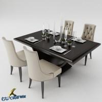 Dining table set 3D Model .max .obj .3ds .fbx - CGTrader.com