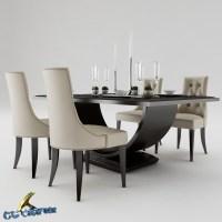 Dining table set 3D Model MAX OBJ 3DS FBX - CGTrader.com
