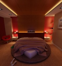 Bedroom with Heart Shaped Bed 3D Model MAX | CGTrader.com