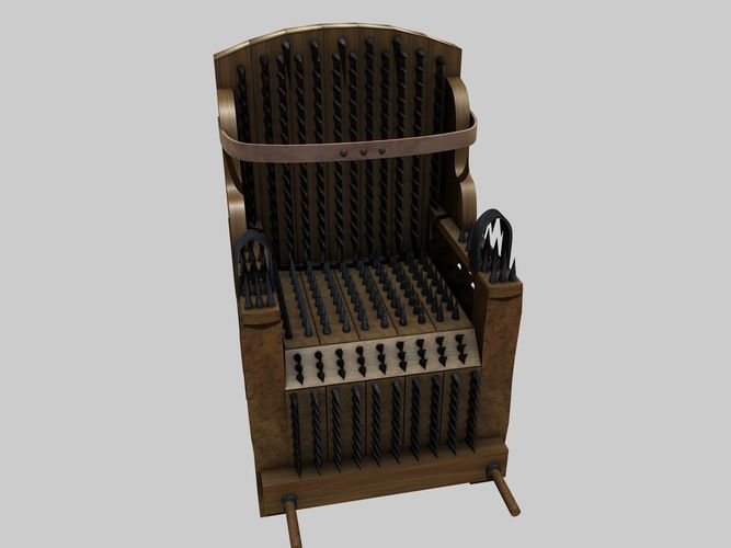 3d Iron Chair Torture Device Cgtrader