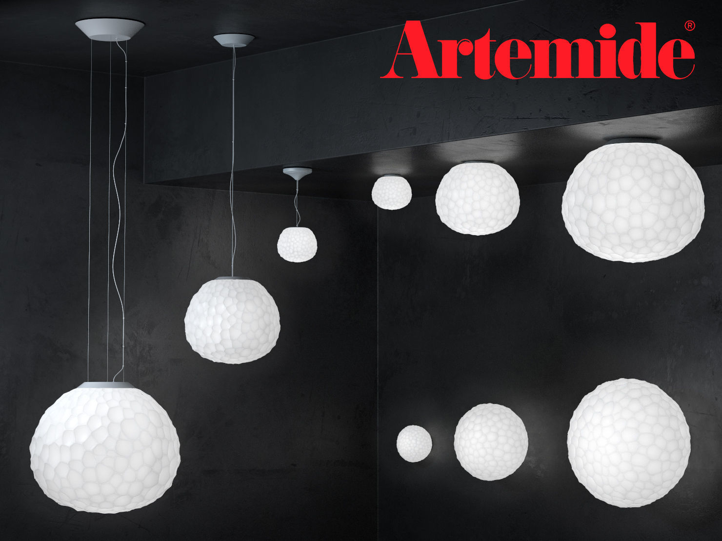 Artemide Suspension Meteorite By Artemide Suspension And Wall 3d Model