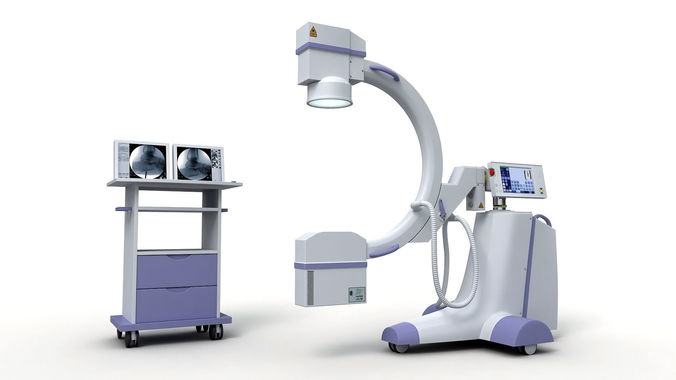C-Arm X-Ray Machine 3D CGTrader