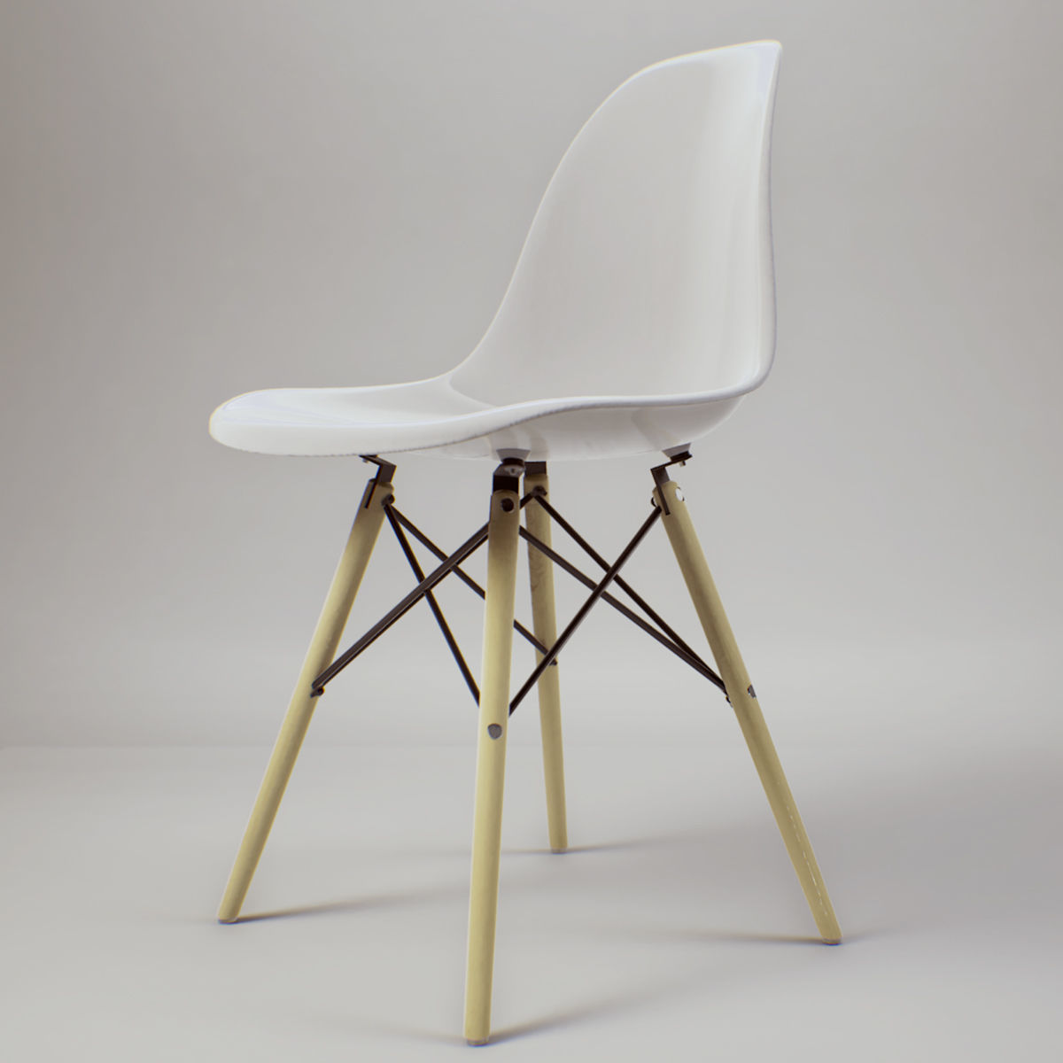 Eames Chair Beige Eames Chair Pbr Game Ready 3d Model