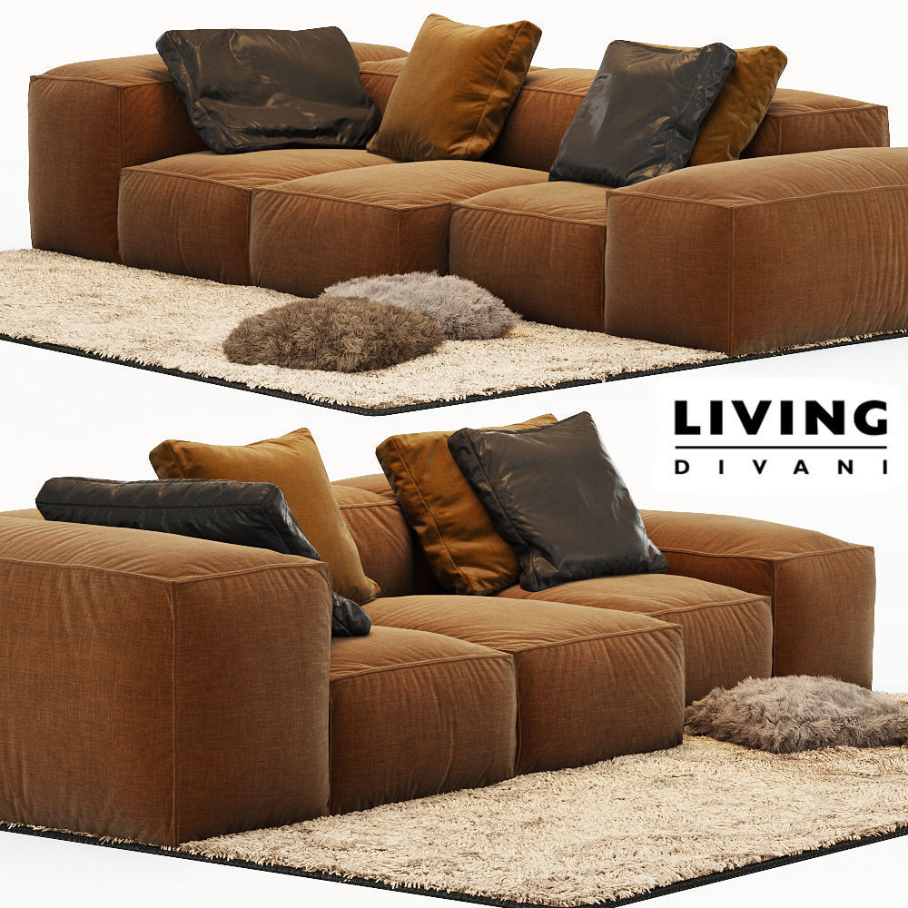 Living Divani Sofa Price Sofa Extrasoft Living Divani 3d Model
