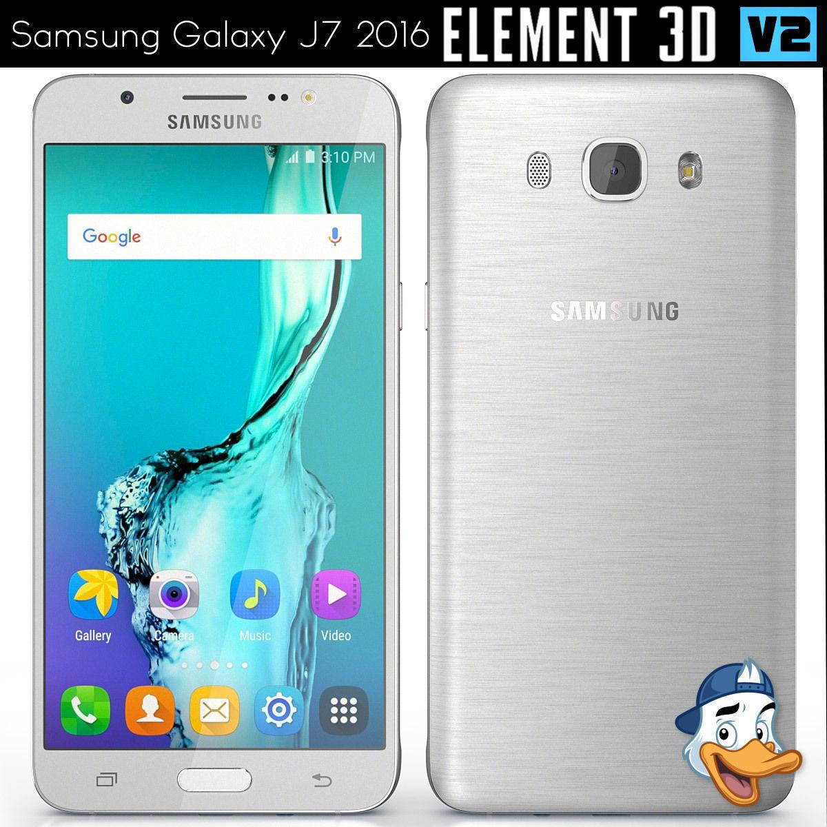 Samsung galaxy j7 2016 for element 3d 3d model obj c4d mtl 1