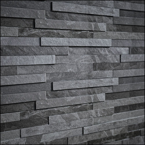 3d Faux Stone Wallpaper 3d Slate Stone Cgtrader