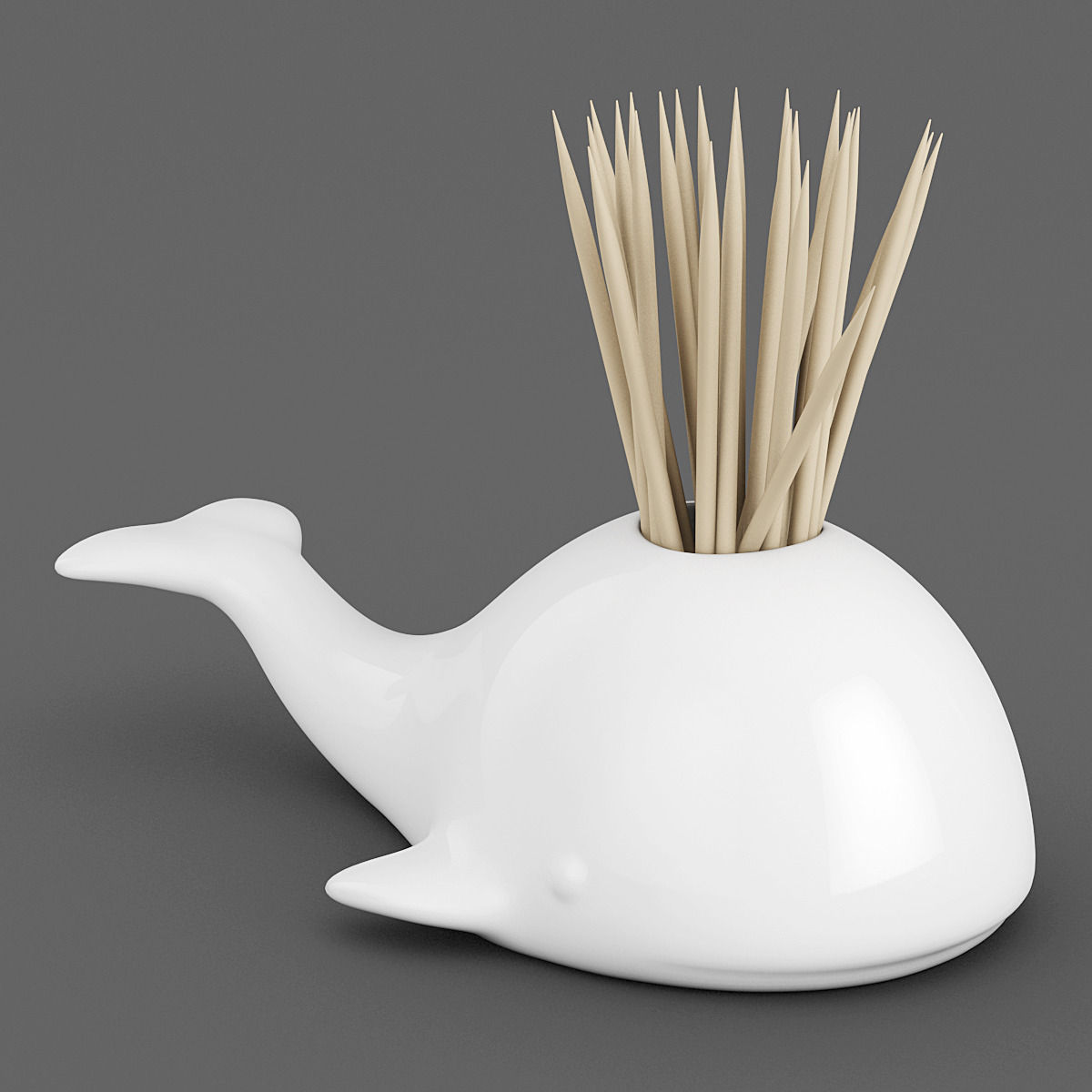 Toothpick Holders Whale Toothpick Holder 01 3d Model 3d Printable Max Obj