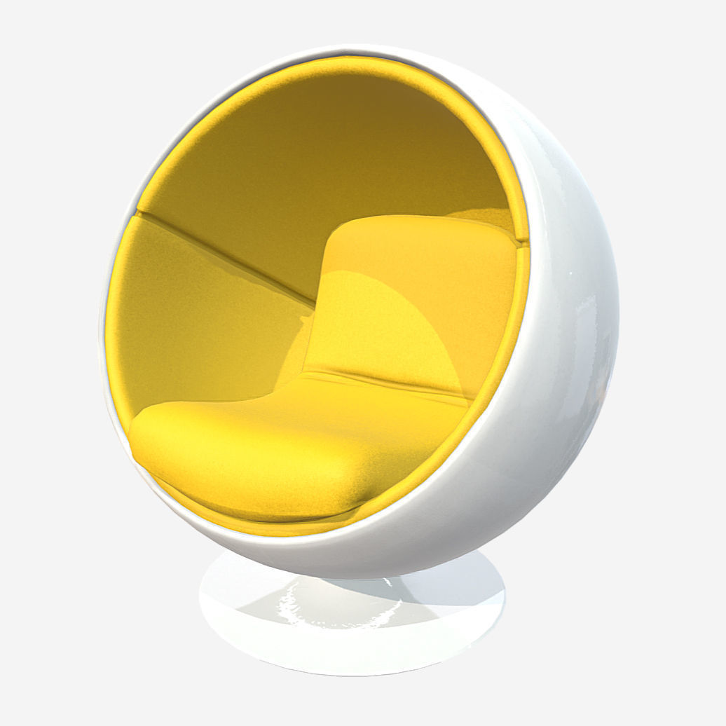 Ball Chair Low Poly Pbr Ball Chair 3d Model