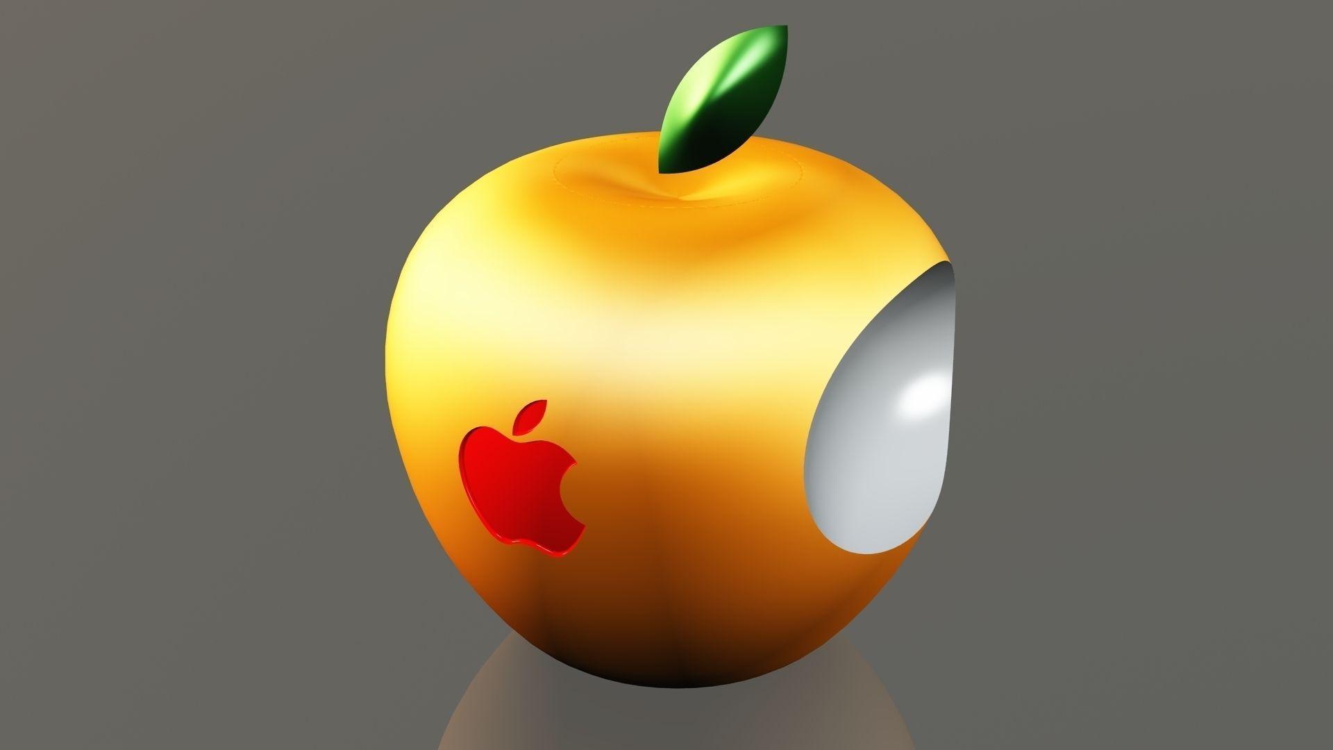 Car Brand Logos Wallpaper 3d Apple Logo Free 3d Model 3d Printable Stl Dwg Sldprt