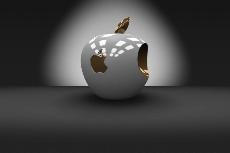 Car And Girl Iphone Wallpaper 3d Apple Logo Free 3d Model 3d Printable Stl Dwg Sldprt