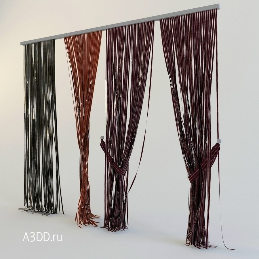 Rope Curtain Curtains Rope Kisea 3d Model