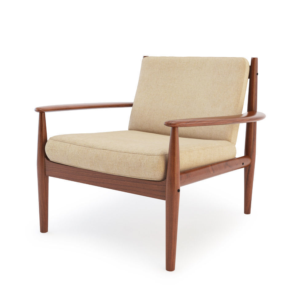 Teak Sessel Danish Danish Teak Lounge Chair 3d Model