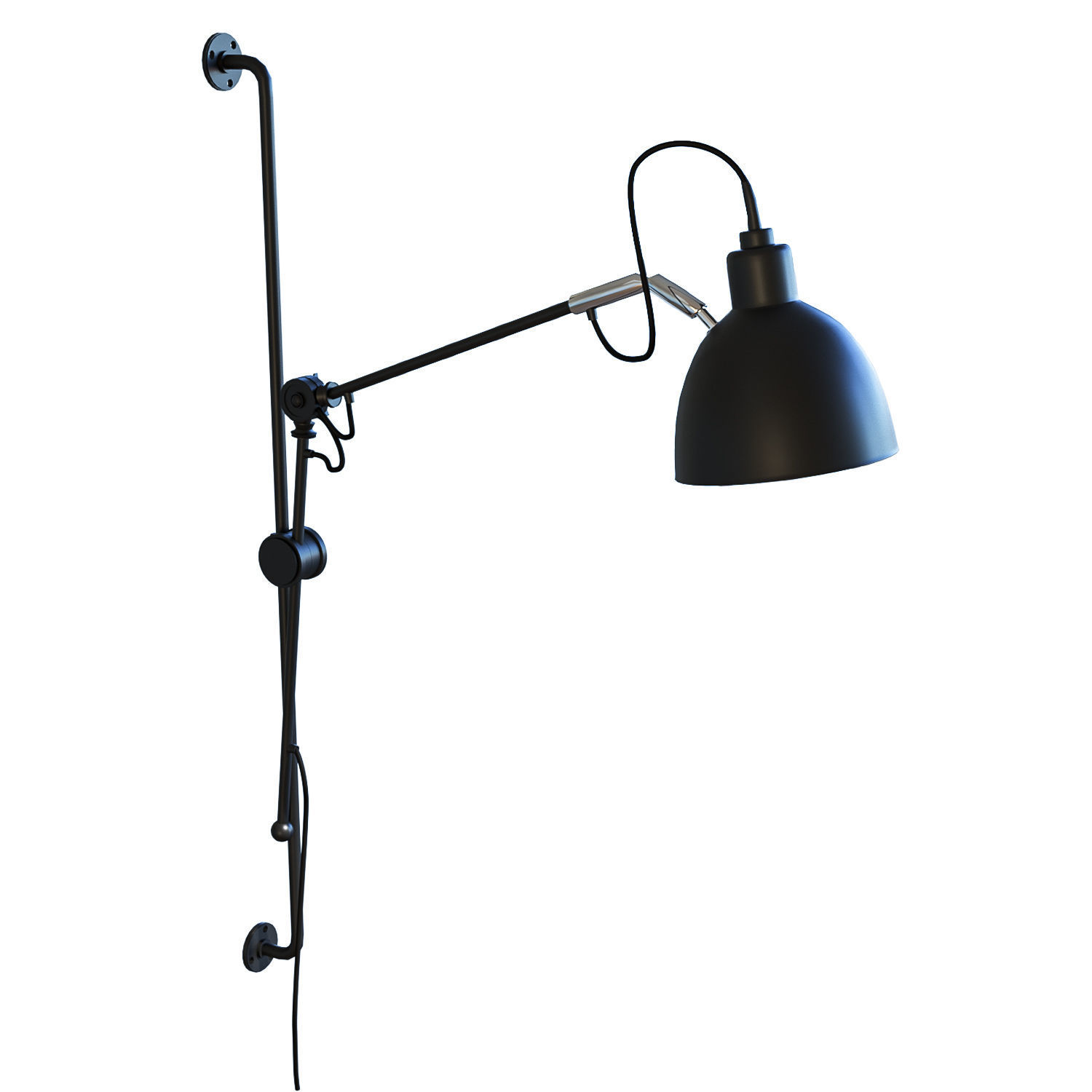 Arm Lamp Newrays Adjustable Antique Industrial Swing Arm Wall Lamp 3d Model