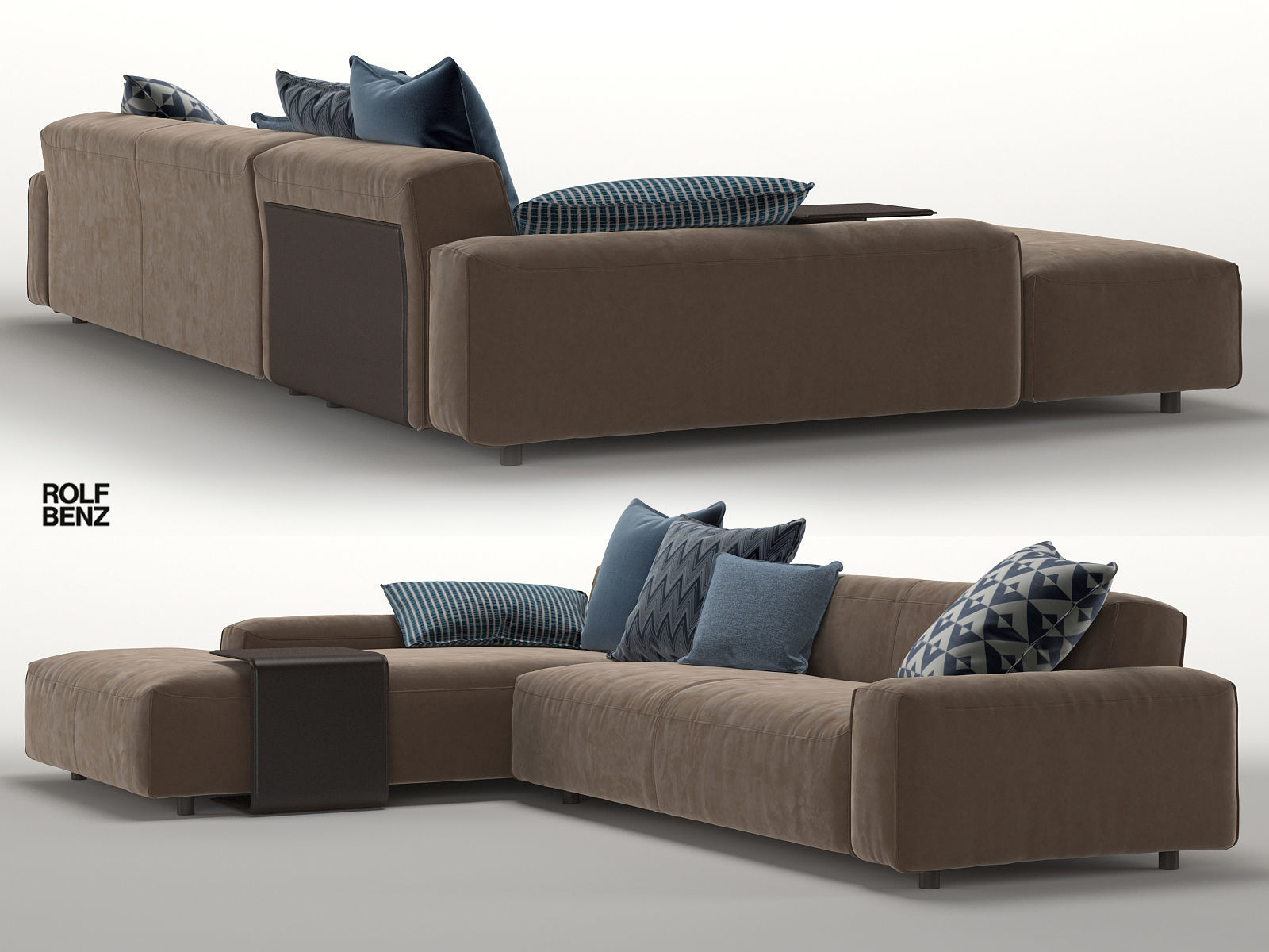 Benz Couch Sofa Rolf Benz Mio 3d Model