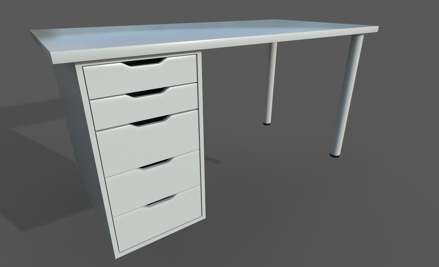 Ikea Table Ikea Linnmon Alex Work Desk 3d Model