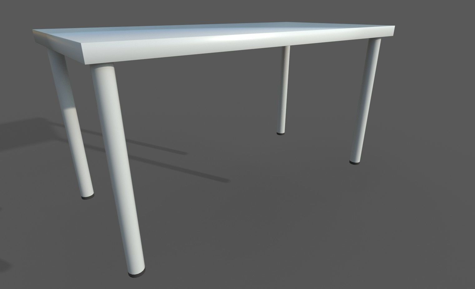 Linnmon Ikea Linnmon Adils Desk 3d Model