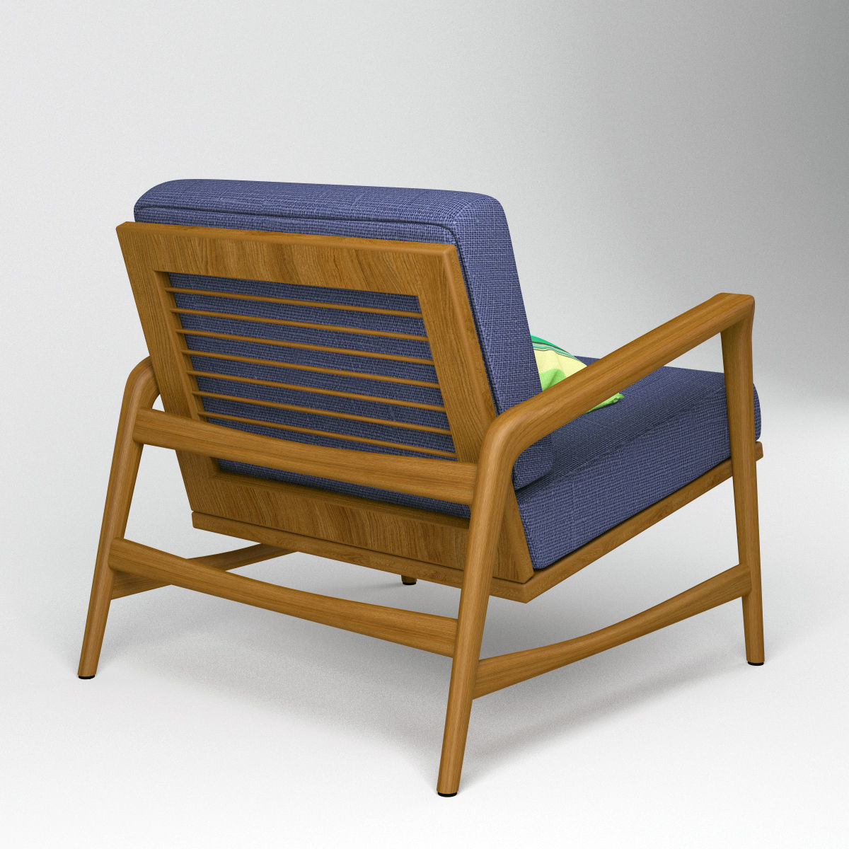 Sessel 3d Danish Armchair Teak Mid Century Style Sessel 3d Model
