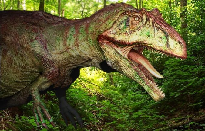 Green Forest Wallpaper Hd Giganotosaurus 3d Model Game Ready Obj Fbx Ma Mb Mtl