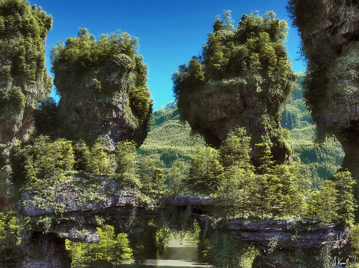 3d Art Girl Wallpaper 25 Photorealistic Landscape 3d Renderings If Only Those