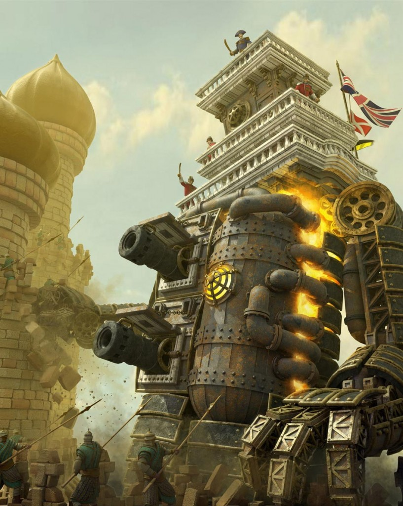 Fall Paintings Wallpaper Steampunk Art In 3d Modeling Blog Cgtrader