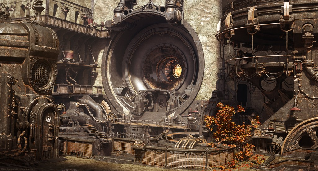 Majestic Fall Wallpaper Steampunk Art In 3d Modeling Blog Cgtrader