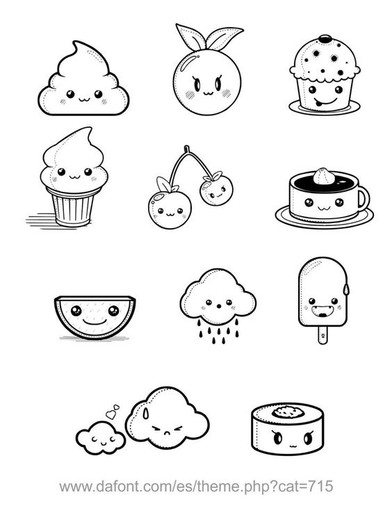 cupcake drawing outline cake ideas and designs