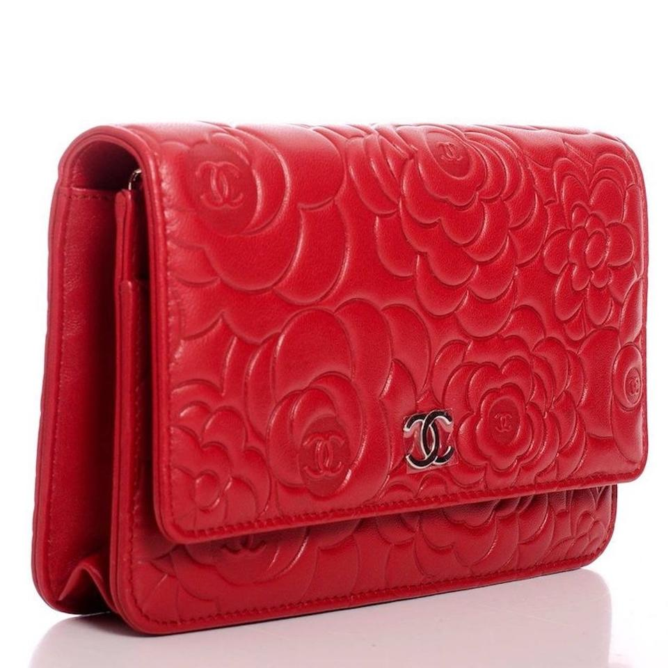 Mini Vs Woc Chanel Clutch Classic Flap Wallet On A Chain Woc Camellia Quilted Mini Flower Red Silver Lambskin Leather Cross Body Bag 33 Off Retail