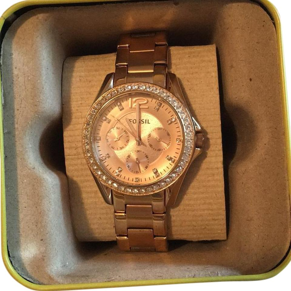 Fossil Riley Fossil Rose Gold Riley Watch