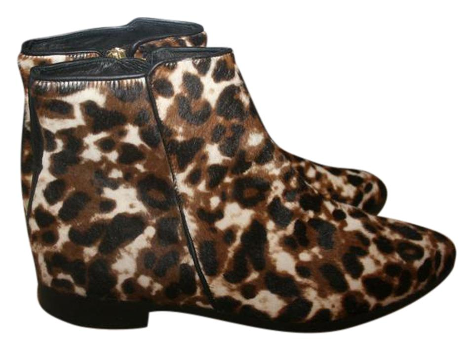Jcrew Sienna Black Cat Collection Calf Hair Ankle Boots